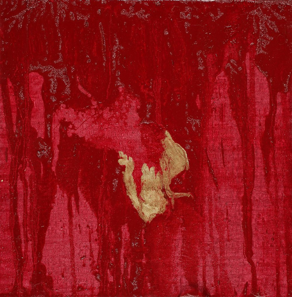 Bloodstain I, Oil on canvas, 30x30 cm, 2008