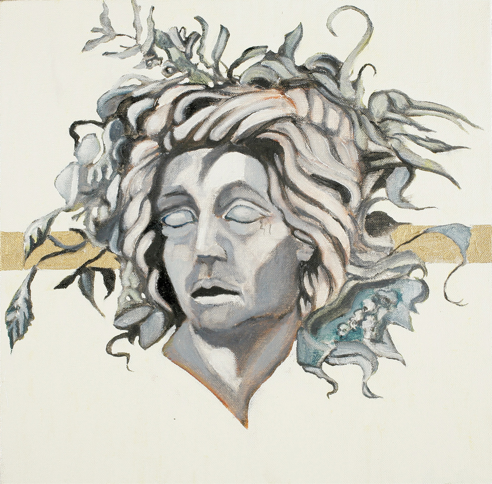 Achilles in tears, Oil on canvas, 50x50 cm, 2008