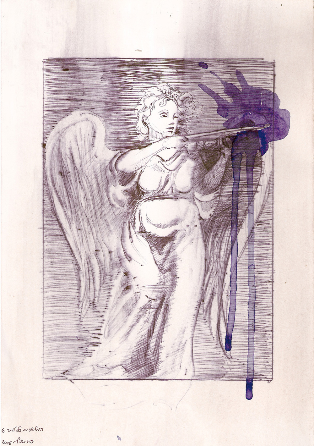Luther's Angle, Ballpoint on paper, 2006