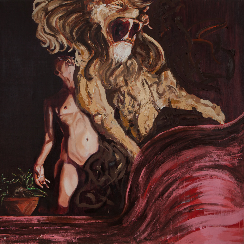 Samson III, Oil on Canvas, 170x170 cm, 2013