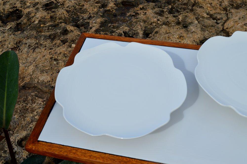 Assorted White Cake Plates & Assorted White Cake Plates \u2014 Roam Rentals