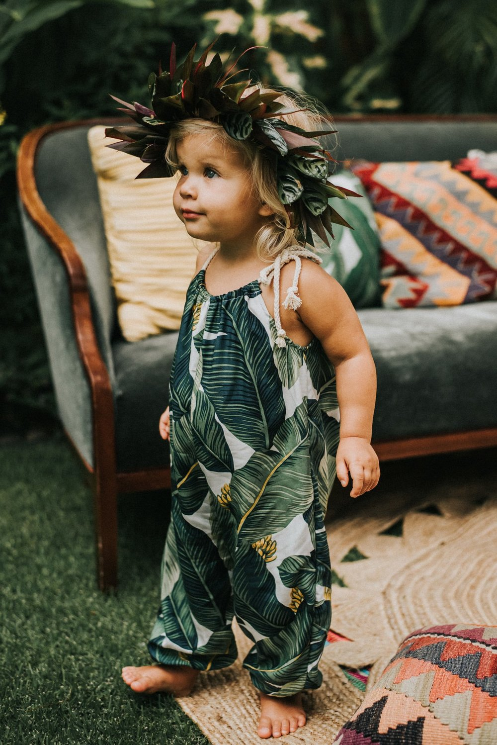 Lucy Romper in banana leaf   Photo By:  Gabriella Katalin