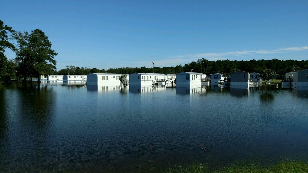 Flooded Mobile Home Park in Lumberton, NC