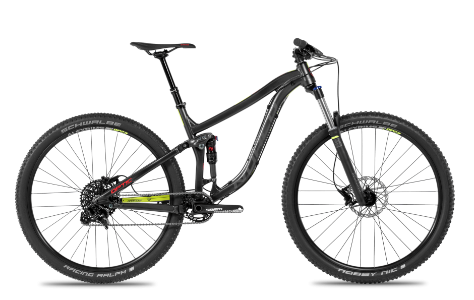 Norco's new trail bike for 2016, the Optic is available both as a 29er or 650b version and features Boost spacing. Also aluminum and carbon frames. If your idea of a fun weekend is a dawn till dusk ride on North Mountain then this is your bike.