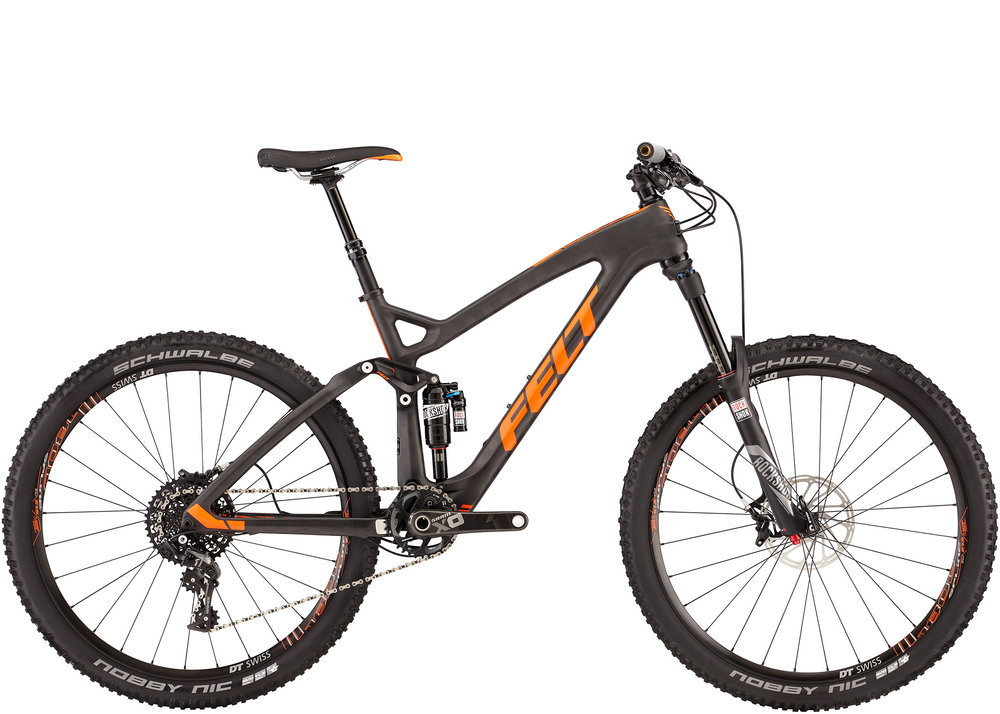 Felt Decree 1 Med $SOLD - he Felt Decree is great for the trails around here. Everything is stock on this bike and it's in great shape. It normally sells for $6000 and this is the current model. Weight is only about 25.5lbs so it's a trail bike that is great for every day