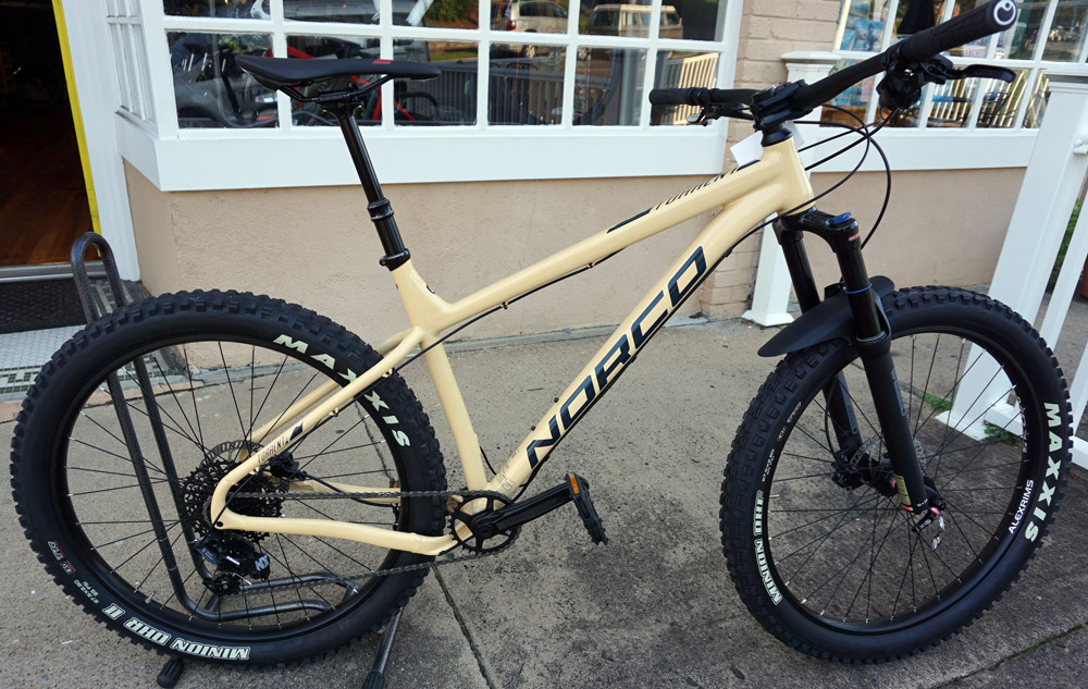 Norco Torrent 2 HT L - Reg $1700, SALE $1200! This is absolutely the most fun bike on the planet at the price. 140mm Suntour fork with 2.8 Maxxis Minion tires. Dropper, SRAM 11 speed. This bike can handle anything you can throw at it.