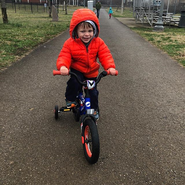 #newbikeday for Carson! We have a great selection of used and new Bikes for your little shredder.