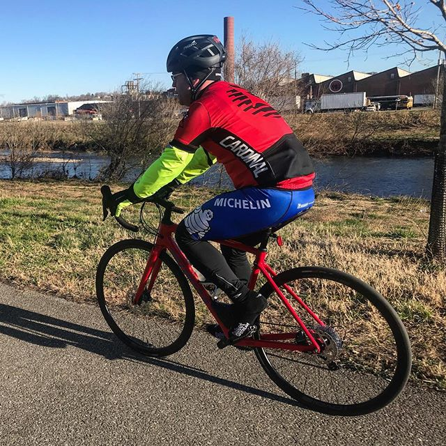 Amir chose our Saturday morning Bandy ride to break in his new @iamspecialized Roubaix. These are part of the Speed into Spring Sale so stop in if you're thinking about a new road bike.