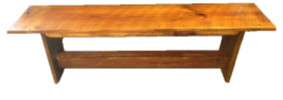 "Box Bench   60"" long x 18.5"" tall x 12"" wide  Natural finish  $265"