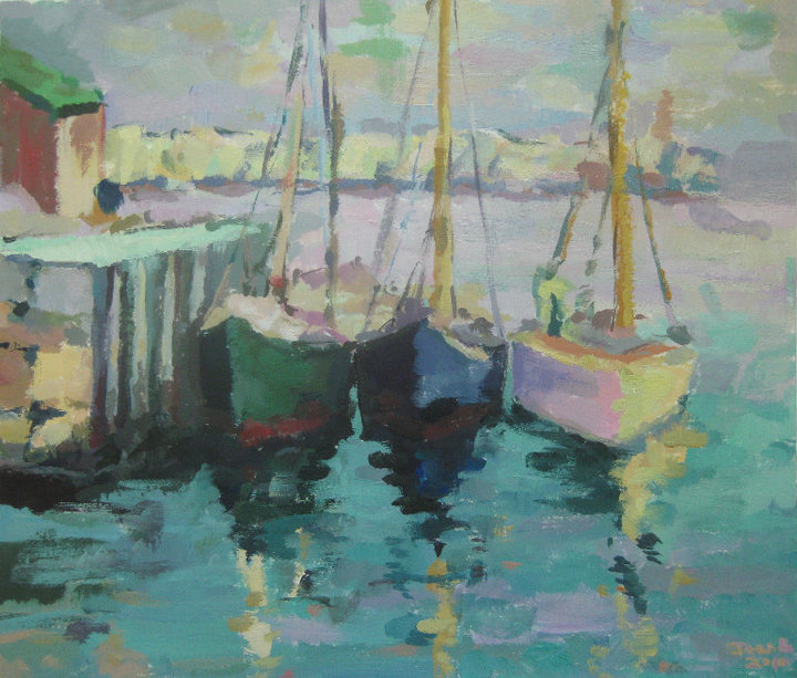 Boats - Acrylic Painting