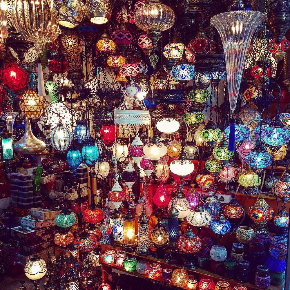 Lanterns on Lanterns at the Grand Bazaar (PHOTO: Katie Cline)