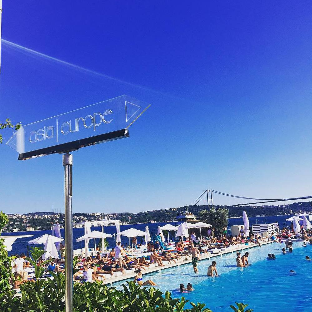 Suada Club.  A pool floating in the Bosphorus- yes please! (PHOTO: Katie Cline)
