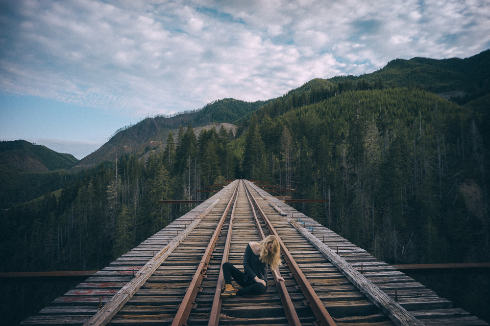 me by  Jesse  on the Vance Creek bridge
