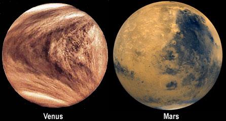 Modern day look mars and venus