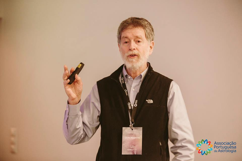 David speaking at the     1st International Astrology Conference - Maia, Portugal     - February 2017