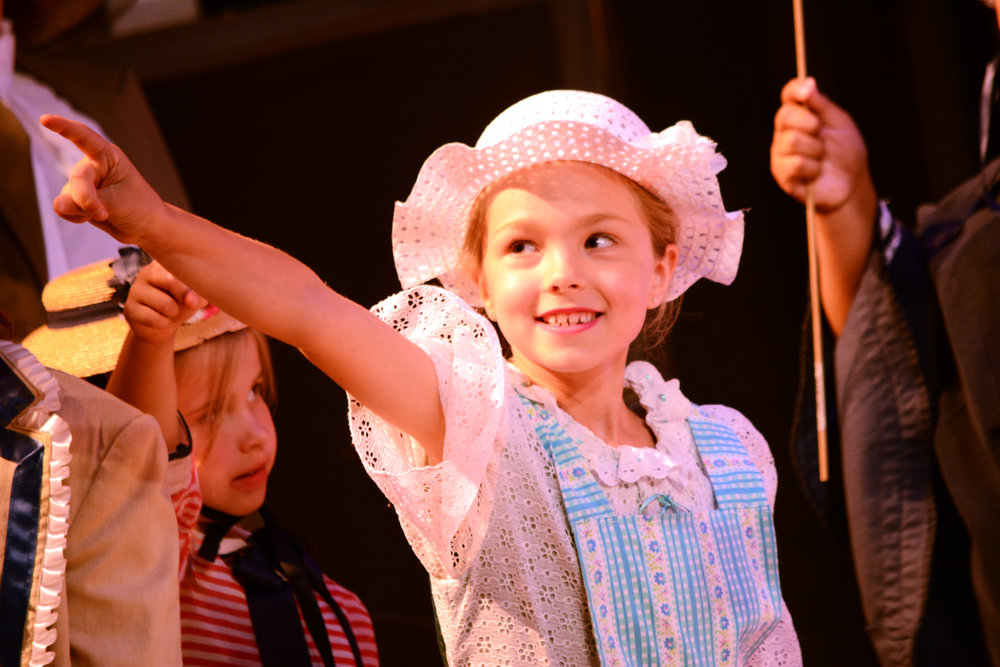 Ellie Nelson performing in  Mary Poppins  at Lundstrum Performing Arts.