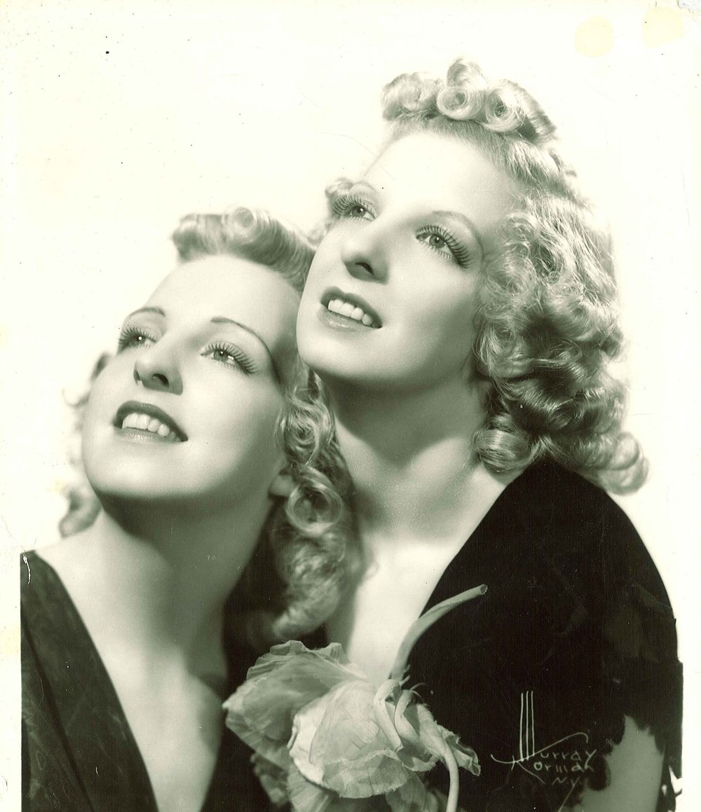 Dorothy (right) and her sister Lorraine, who taught voice (left).