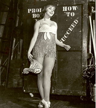 Chrissy in the Broadway production of  How to Succeed in Business Without Really Trying, 1962