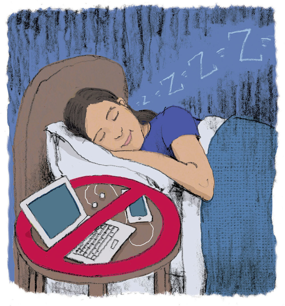 Turning off devices leads to a better night's sleep.
