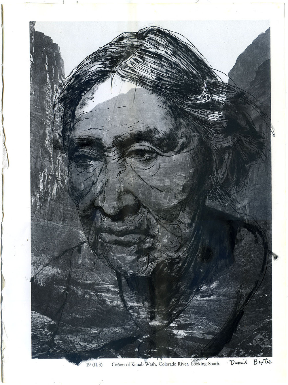 Portrait of a Paiute woman, who's tribe was indigenous to the Kanab Creek, Utah