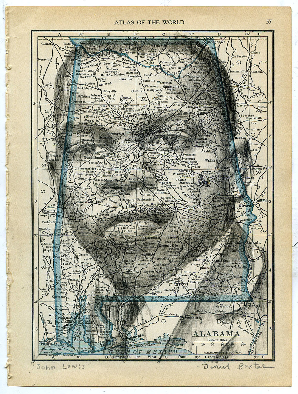 Map drawings daniel baxter art civil rights leader john lewis gumiabroncs Image collections