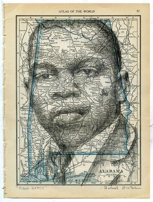 Map drawings daniel baxter art civil rights leader john lewis gumiabroncs Choice Image
