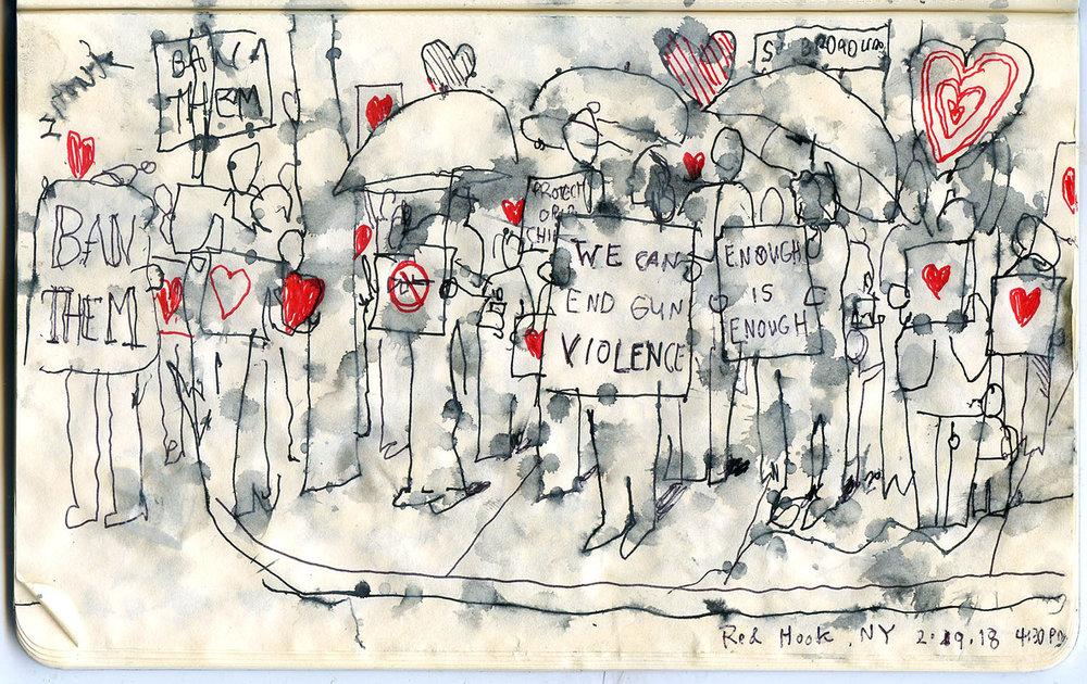 Daniel Baxter Gun violence vigil.jpg
