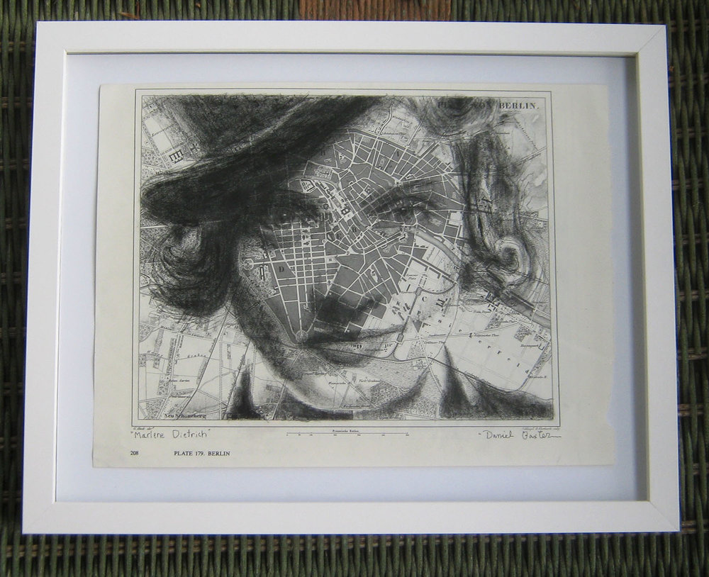the original drawing, framed