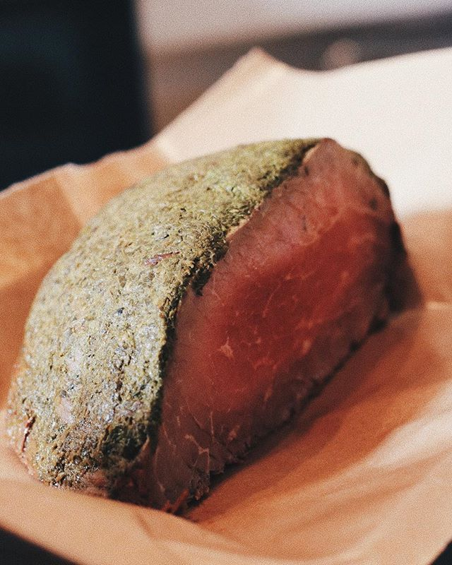 Mmmmm... beefy. You have to try our roast beef, we cure it in-house.
