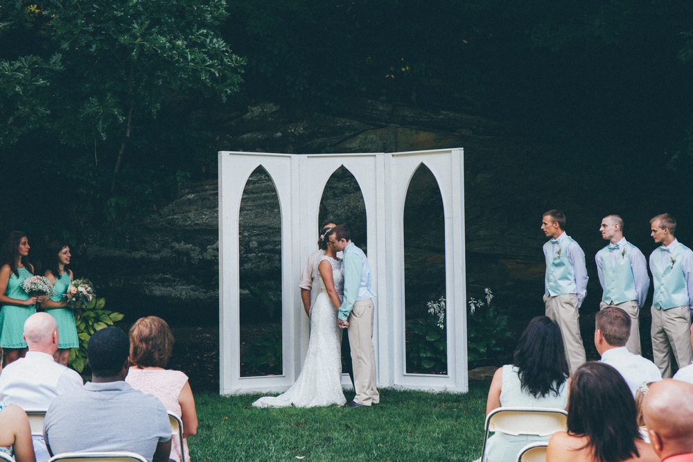 We wanted to write personal vows to one another, but, we wanted to keep them between us, so we whispered them! The photo of Zach whispering to me is featured on Pinterest:https://www.pinterest.com/pin/333336809901930831/  Photo Credit: Matthew Garsky and Alec Fritz Photography