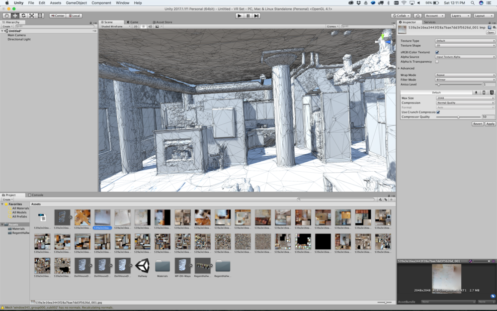 3d photogrammetry model in the Unity game engine