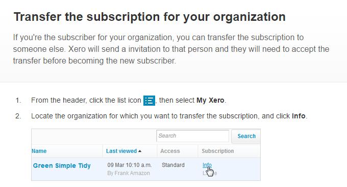 Xero Subscription