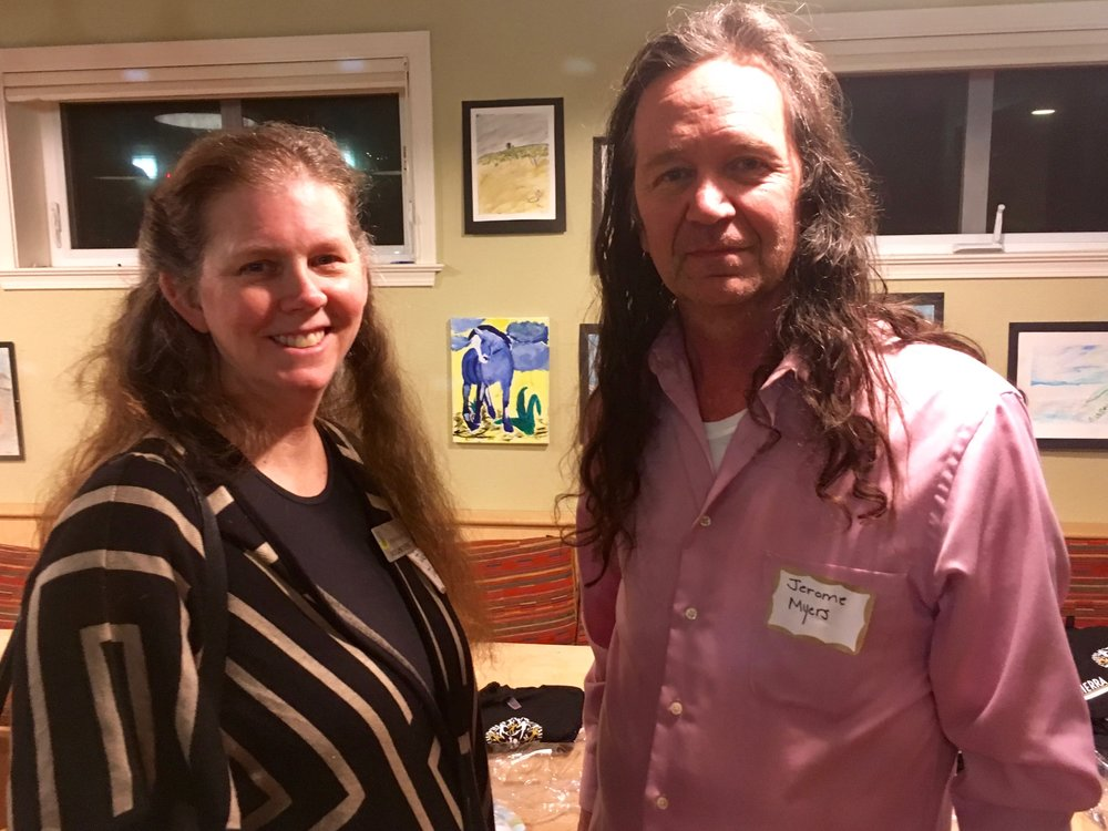 Volunteers Jacquie Janssen and Jerome Meyers