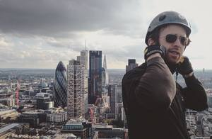 Andy, high above London. ©Zofia Reych