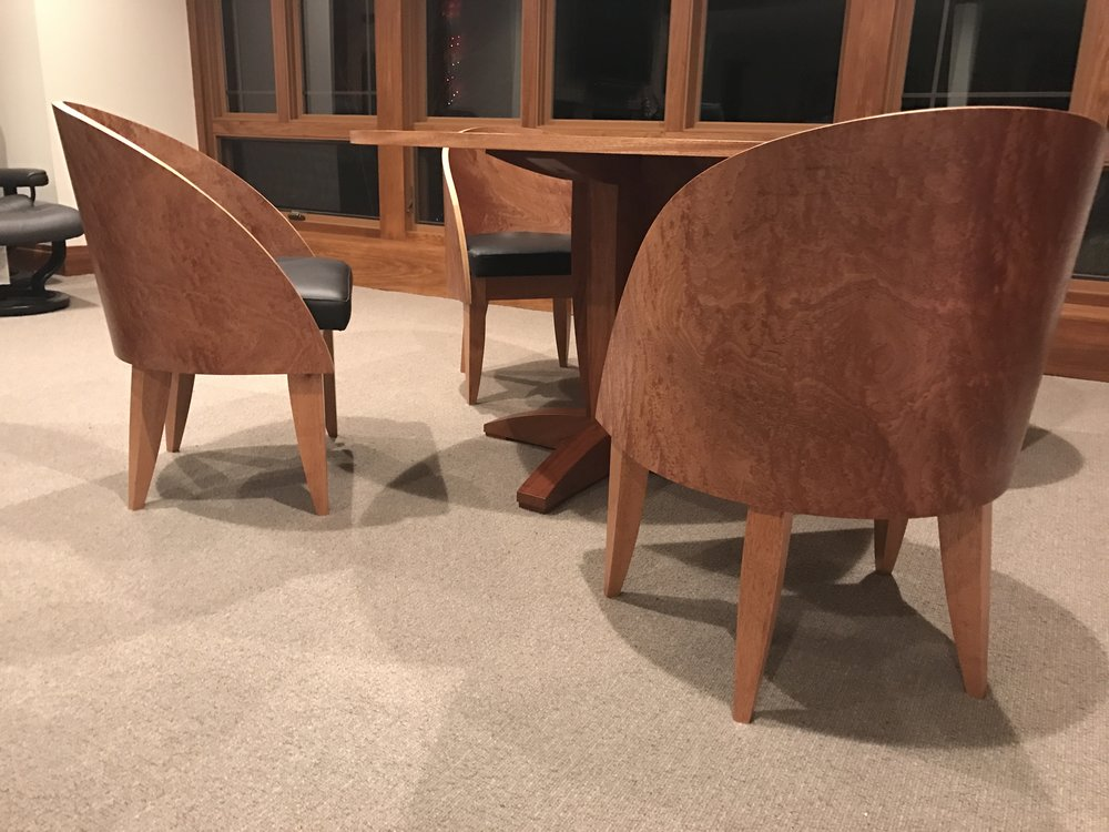 Club Chairs/ Game Table