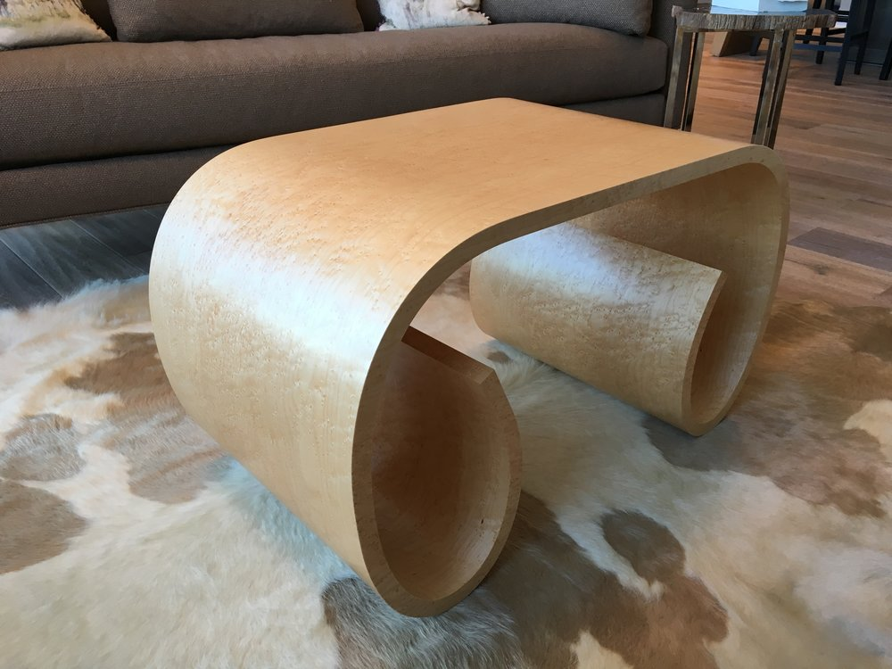 Bird's Eye Maple Loopy Table