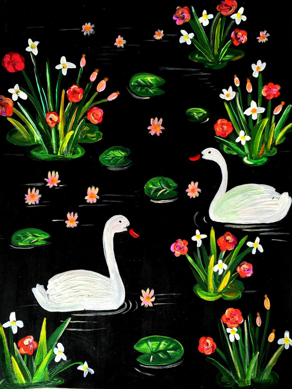 1. Gouache white swans.jpg
