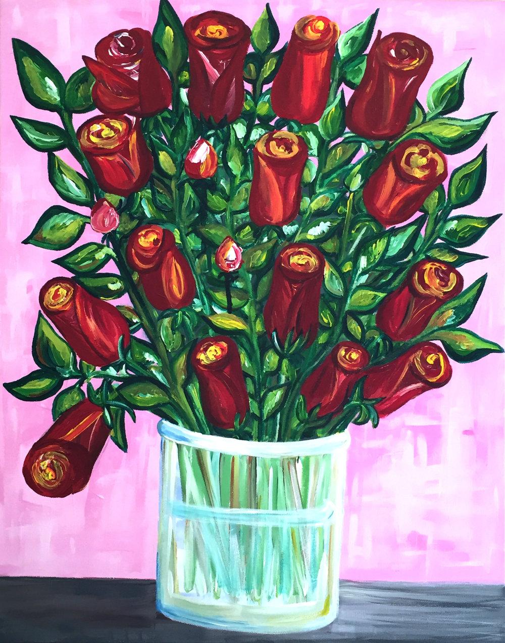 2. Acrylics red roses.jpg