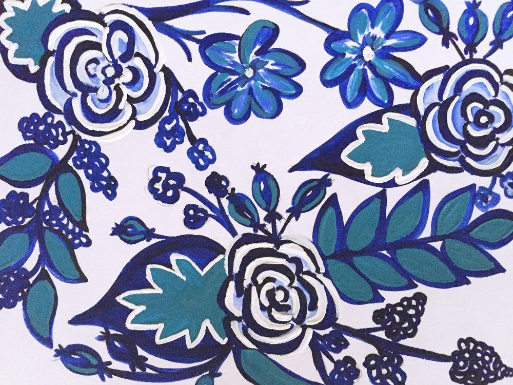 3. Gouache blue floral.jpg
