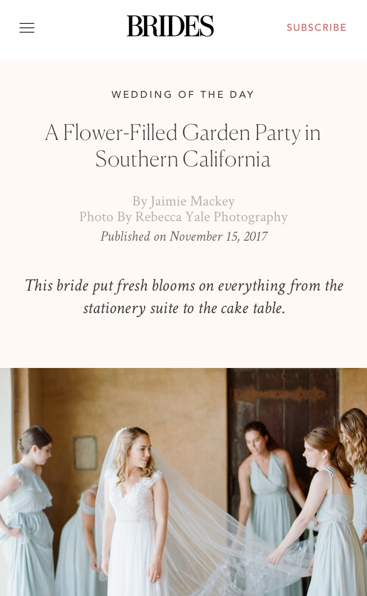 Brides // A Flower-Filled Garden Party