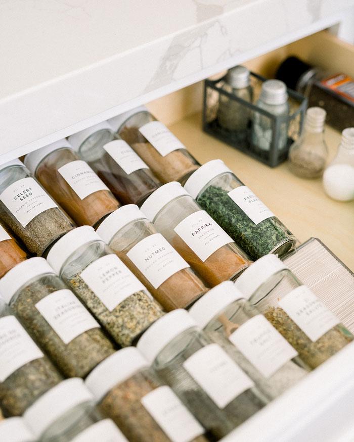 RiOrganize Kitchen Organization Spice Labels