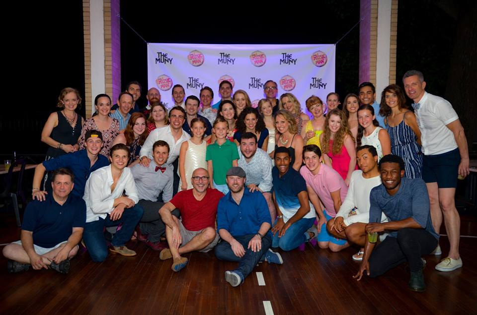 Full company including director Rob Ruggiero and choreographer Chris Bailey, down front.