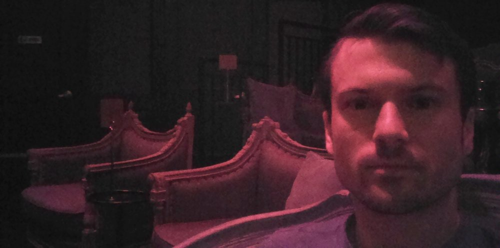 Me in my plush, Victorian seat; 2nd row. Close enough to see all the body parts one could imagine.