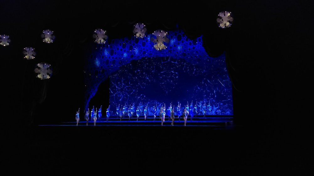 Fun fact: the Radio City stage was built with 3 hydraulic elevators and a turntable! This number, Snow, has added present-day GPS technology!