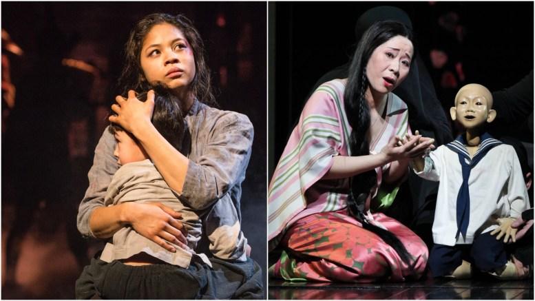 Miss Saigon Photo by Matthew Murphy Madama Butterfly Photo by Ken Howard/Metropolitan Opera