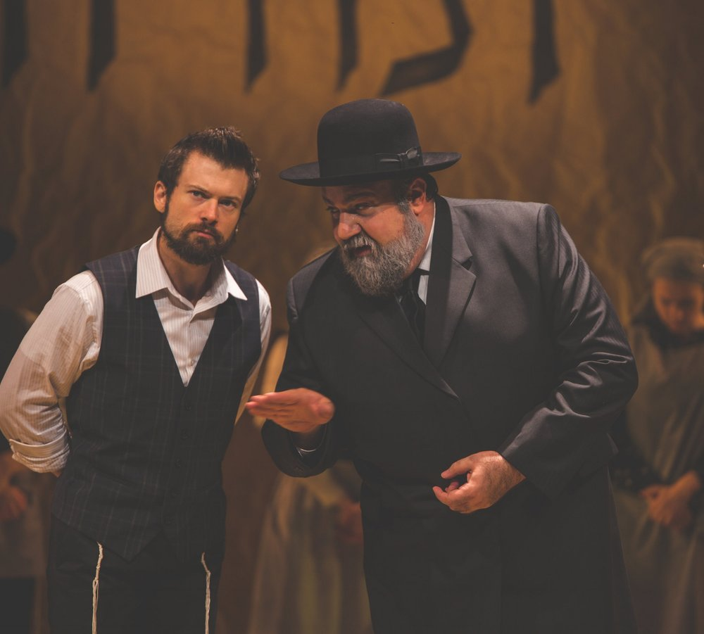 As Mendl, in off-broadway's Yiddish Fiddler on the Roof, directed by Joel Grey credit: properpix.com