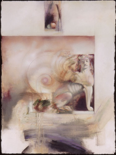 Sphinx , 22 x 30 inches, mixed media on sized paper, 2003