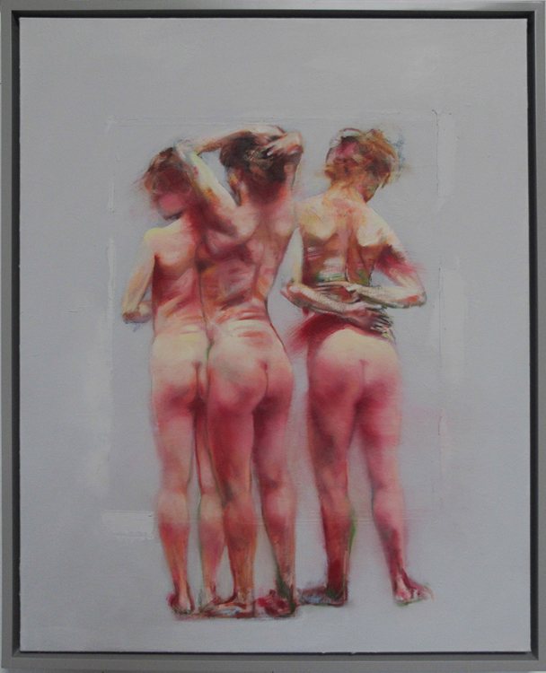 Three Women , 20 x 30 inches, oil on canvas, 2014