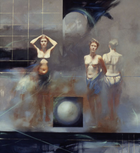 Three Figures , 49 x 42 inches, oil on canvas, 2002