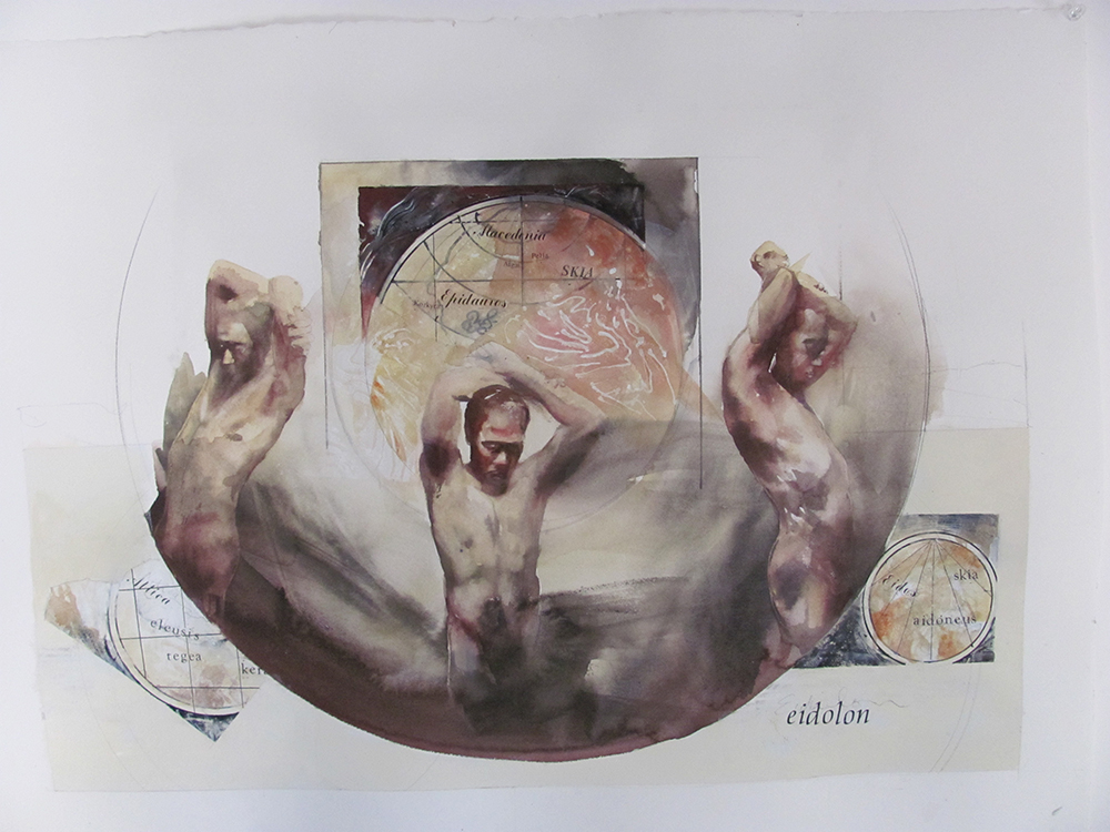 Eidolon,  22 x 30 inches, watercolor, 2012